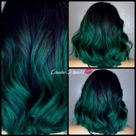 emerald hair color emerald green hair hairdare hair flying colors