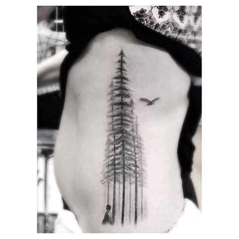 giant pine trees tattoo best tattoo ideas gallery