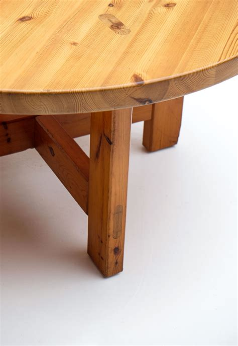 round table anderson round pine dining table by roland wilhelmsson for karl