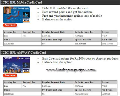 How Many Credits Is A Mba by Co Branded Credit Card Mba Project Report Free