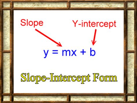 slope intercept form definition linear functions and equations zona land education
