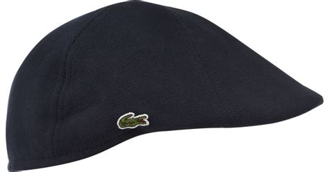 lacoste flatcap hat in blue for lyst