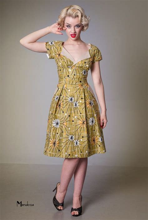 Vanity Project Limb by Vanity Project By Limb Atomic Retro Swing Dress Pin Up