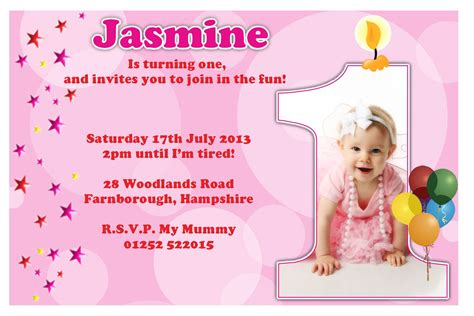 1st Birthday Invitation Card In 1st Birthday Invitations Girl Free Template Baby Girl S