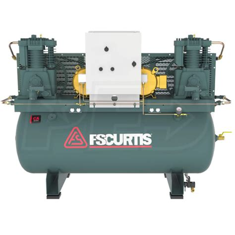 fs curtis fca07e57d1u a9l1xx ca7 5 7 5 hp 15 hp 120 gallon ultrapack two stage duplex air