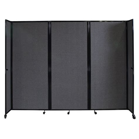 Versare Room Divider Versare 360 Mobile 8 6 Room Divider Charcoal Gray National Office Interiors And Liquidators
