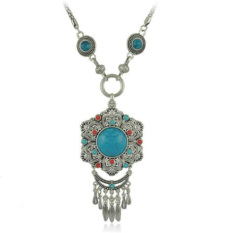 from jewelry vintage gem silver chain boho jewelry necklaces