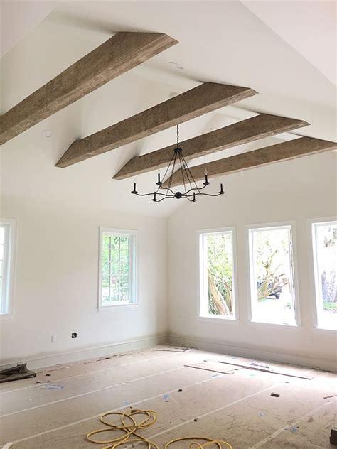 faux wood beams heights house vaulted ceiling beams