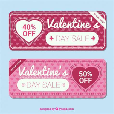 vintage valentines for sale vintage sale banners vector free