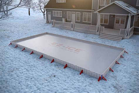 how to make a backyard skating rink ez ice transforms your backyard into an ice rink in 60