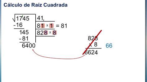 como se hace raiz cuadrada n 218 meros irracionales c 243 mo calcular una ra 237 z cuadrada