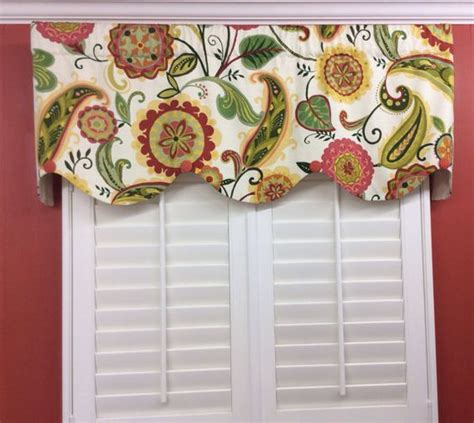 Bright Valances Bright Whimsical Floral Scalloped Window Valance With