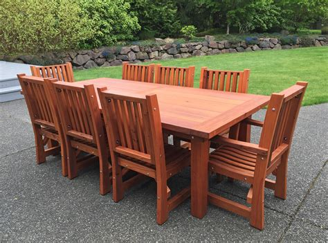 redwood dining table redwood patio table custom made redwood dining tables