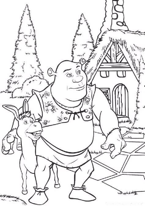 shrek coloring pages coloring pages to print
