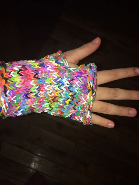 Cool Things To Make With Rubber Bands And Paper - rainbow loom fingerless glove rubber band bracelets