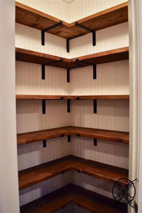 diy farmhouse pantry shelves diy pantry shelves