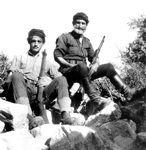crete the battle and cretan partisans pose for a photograph following the axis invasion of the greek island part of