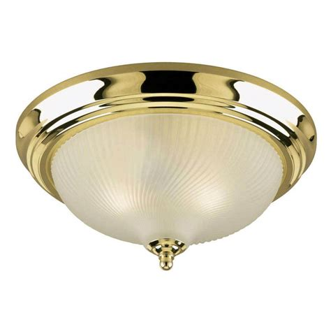 Westinghouse Light Fixtures Westinghouse 64302 2 Light Polished Brass Ceiling Light Fixture Elightbulbs
