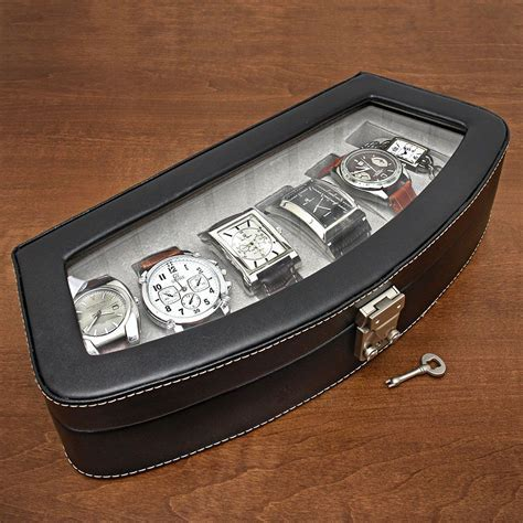 Timeless Italian Leather Six Watch Case (Engravable
