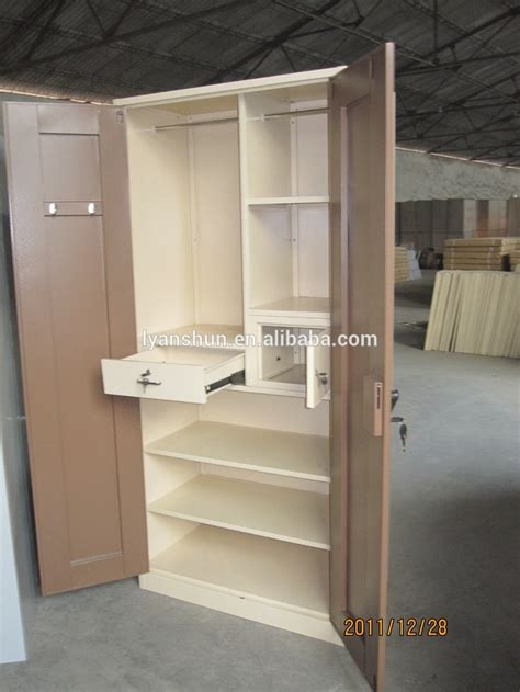 Wooden Folding Bench Clothing Cabinet Wardrobe Metal Cupboard For Clothes