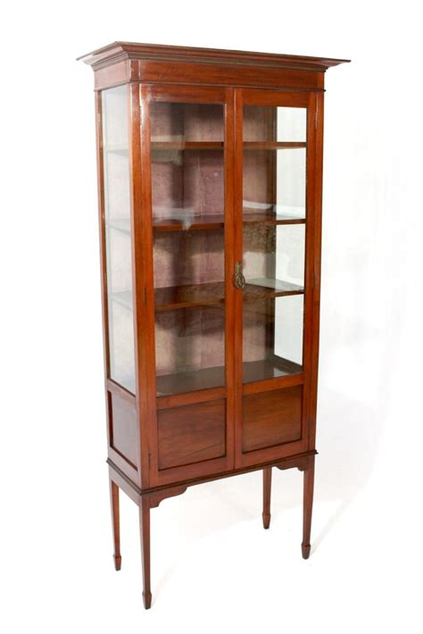 antique edwardian mahogany display cabinet 307499
