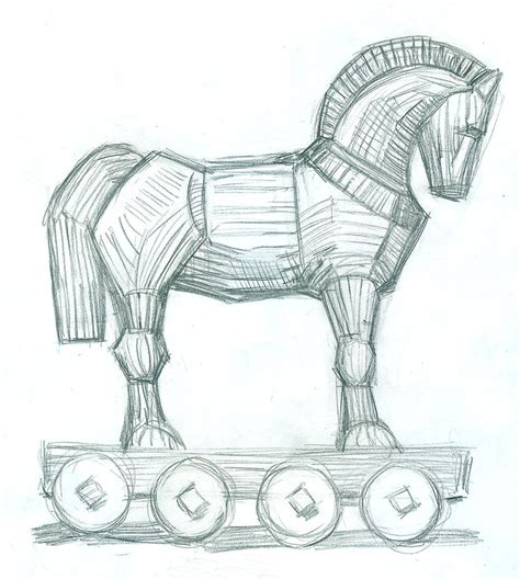 coloring pages of trojan horse trojan horse pencil by jacktzekov on deviantart