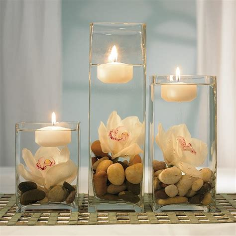 decorating ideas for spa with candle and flowers room