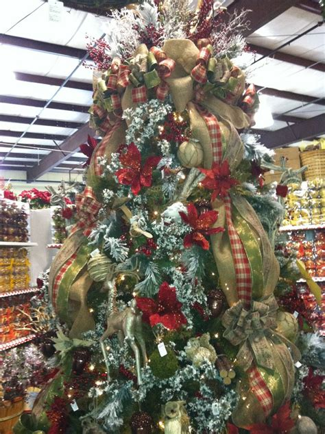 woodsy christmas tree country christmas pinterest