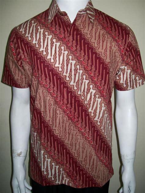 Baju Kemeja Batik Pria Cowo Laki Motif Kollo Batik Printed koleksi terbaru baju batik pria motif parang berpadu warna merah yang keren untuk laki laki