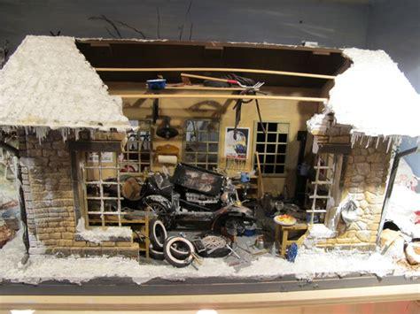 diorama werkstatt 1 18 diorama werkstatt winter racing 1 18 90 x 40 x 45 cm