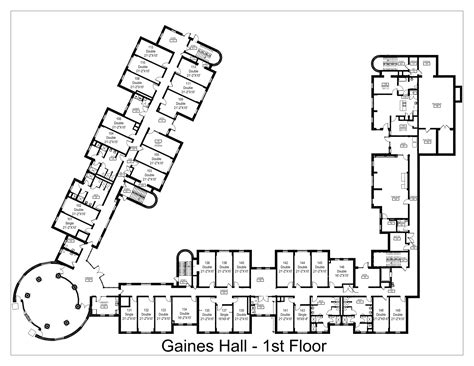 student housing floor plans francis p gaines hall washington and lee university
