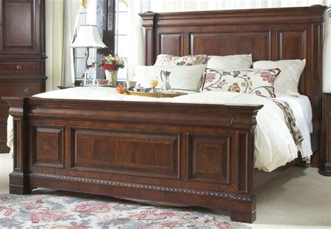 mansion bed heritage walnut king size mansion bed