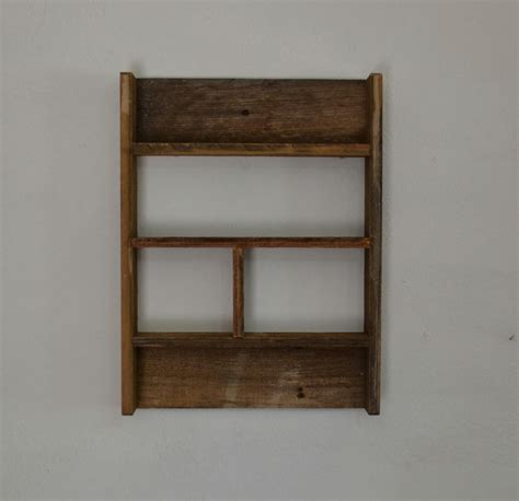 rustic barn wood wall shelf 14 by 19 stunning patina
