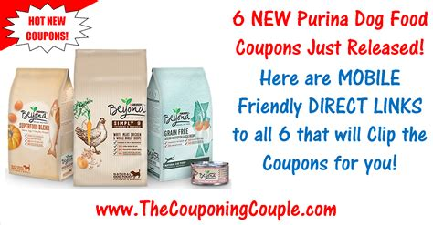 printable dog food coupons 6 new purina pet food coupons save 8 15