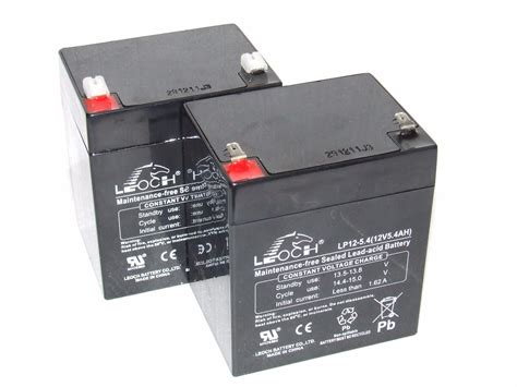 lakestar bait boat battery charger 2 a pair x leoch 12v 5 4ah up rated batteries for mini