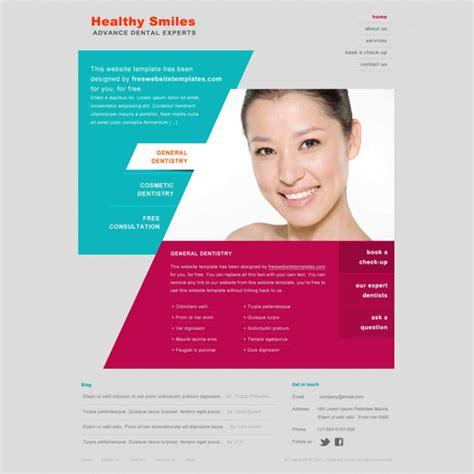 Dentist Website Template Free Website Templates Dentist Website Template