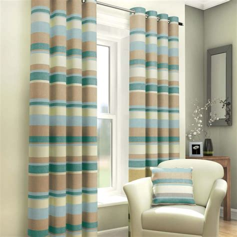 blue and cream striped curtains striped eyelet lined curtains blue cream tony s