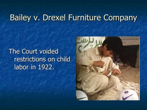 Bailey V Drexel Furniture Co by Chapter 24 Ap American History