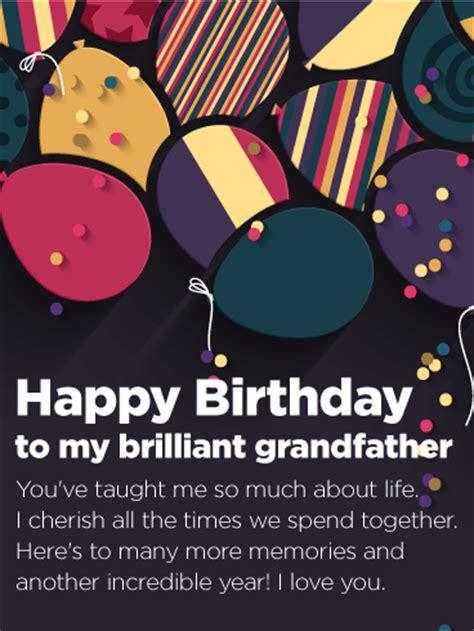 brilliant grandfather happy birthday card birthday greeting cards  davia
