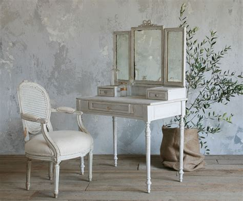 Makeup Tables For Bedrooms Old And Vintage French Style Small Vanity Table Painted