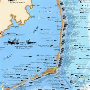carolina outer banks map shipwrecks of the outer banks carolina