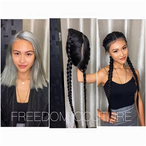 wigs made for black people that are braided new pre braided freedom couture wig get 2 cornrows in
