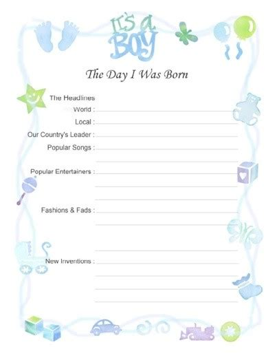Baby Book Template Free free printable baby book pages scrapbookscrapbook