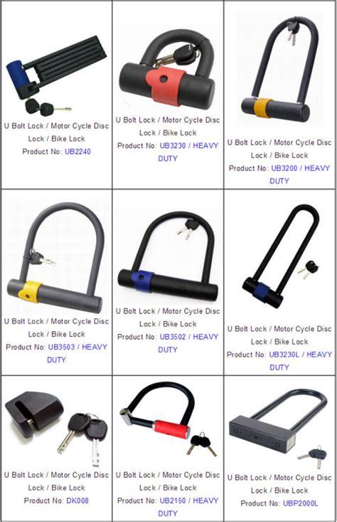Steel U Bolt Lock Gembok Yellow folding lock for bike motor cycle buy u bolt lock bike