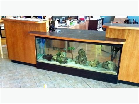 Unique Reception Desks Unique 12ft Reception Desk Space For Fish Tank Or Cherry Cover West Shore Langford Colwood