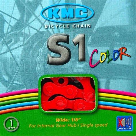 cadenas bici colores kmc s1 cadena bicicleta 1v colores bike chain colored box
