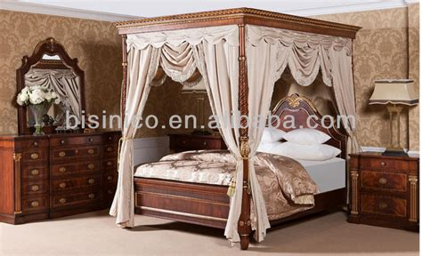 18th Century Bedroom Furniture 18th Century Style Bedroom Set Luxury Four Poster Wooden Canopy Bed Palace Royal