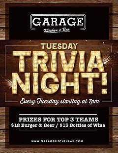 Some Fool Will Be Co Hosting Tuesday Trivia by Trivia Tuesday Tuesday February 16 2016 7 P M San