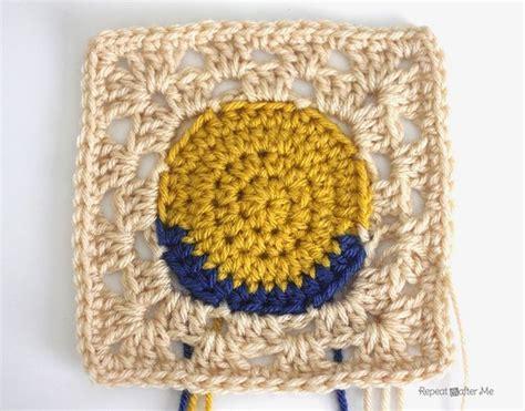 granny square pattern magic ring crochet minion granny squares repeat crafter me bloglovin