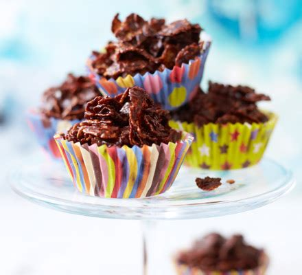 Summer Lunch Menu Ideas For Entertaining - cooking with kids chocolate cornflake cakes bbc good food